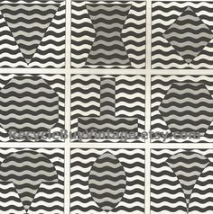 vintage 1970's optic illusion pattern art print book plate black & white pop art design retro home decor mod geometric picture wall 91 92 by RecycleBuyVintage on Etsy