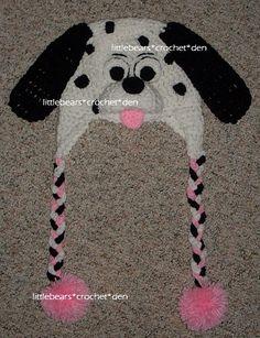 CROCHETED BRAIDED 101 DALMATIANS PUPPY DOG HAT https://www.facebook.com/littlebearscrochetden/photos/a.302104733148166.77776.129247753767199/892570044101629/?type=1&theater