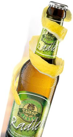 Radler (Austria & Germany) (I actually walked through Berlin with one of these in hand. They are much better when they're made from draft and lemonade). Radler Beer, German Beer, Beer Label, Food Cravings, Regional, Happy Hour, Lemonade, Austria, Germany