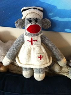 #Nurse sock monkey. We love it!