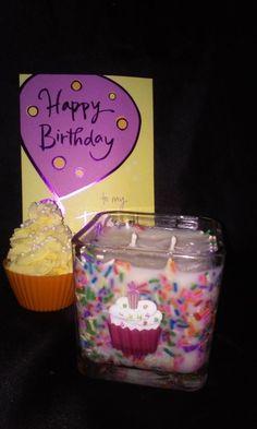Happy Birthday Soy Wax Candle by ParadisebyPrincess on Etsy