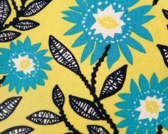 1 yard laminated cotton canvas  Fenton Sunshine by VNRoseFabrics, $24.00