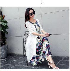 Two Piece Cotton Linen Dress Latest Fashion For Women, Latest Fashion Trends, Two Piece Dress, Cotton Linen, Plus Size Dresses, Party Dresses, Women's Dresses, Kimono Top, Paris Party