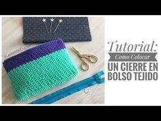 Crochet Bag Tutorials, Crochet Purse Patterns, Crochet Purses, Crochet Stitches, Knit Crochet, Knitting Patterns, Clutch Purse, Coin Purse, Knitted Bags