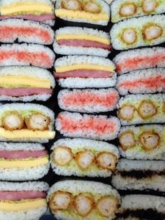 Sandwich avec nori (a enlever le riz pour low carb) Japanese Rice, Japanese Dishes, Japanese Style, Rice Sandwich, Kimbap, Asian Recipes, Ethnic Recipes, Rice Balls, Exotic Food