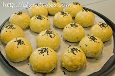 Salted Egg Yok Red Bean Pastries