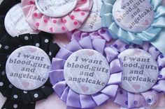 blood, guts and angelcake rosette - $15