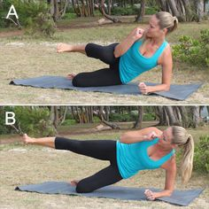 10 Crunch-Free Moves for Killer Abs- I hate crunches, these are much better options.