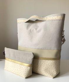Womens bag, shoulderbag, hand bag, messenger bag, beige, gold, summer, recycling, new