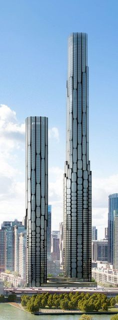 Zaha Hadid Architects' conceptual rendering for Chicago Spire site