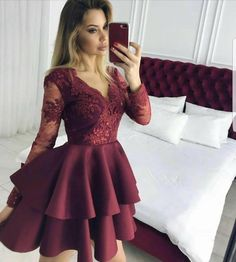 💥New Dress💥 🍀Size s m l xl 🍀Good Shopping . 💎Hi Girlsss 🦋 Friends, Who want to buy can write me DM or WhatsApp. Please stay on track for brand New combinations 🌟 . Long Sleeve Homecoming Dresses, Hoco Dresses, Cute Dresses, Beautiful Dresses, African Fashion Dresses, Fashion Outfits, School Dance Dresses, Semi Formal Dresses, Short Prom
