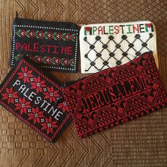 $15Purse with Palestinian cross stitch / Embroidery