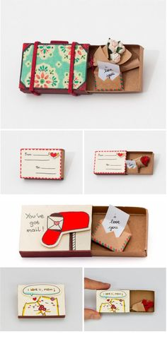 "These handmade matchbook cards are a unique way to say ""Happy Mother's Day!"""