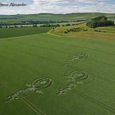 Crop Circle at Alton Priors, Wiltshire, UK - 9 June 2012