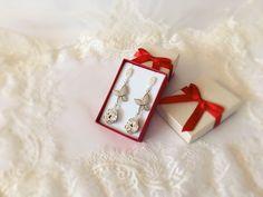 Butterfly earrings, Swarovski Earrings, medium long earrings, bridal earrings, wedding earrings, bride glamour drop earrings Butterfly Earrings, Wedding Earrings, Medium Long, Swarovski, Glamour, Drop Earrings, Bride, Silver, Handmade