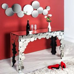 Decor, Furniture, Vanity Mirror, Home Decor Decals, Table, Home Decor, Sideboard Designs, Mirror