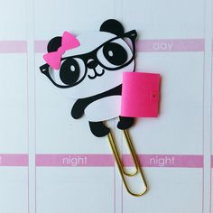 Paper clip, Bookmarks and Pandas