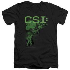 CSI/Evidence Short Sleeve Adult T-Shirt V-Neck