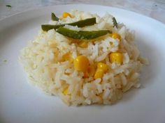 Aquí te comparto una receta muy sencilla para preparar arroz blanco.   A mi me gusta mucho ponerle granos de elote y chile poblano porque l...