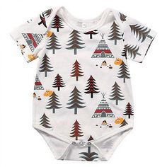 NEWBABY Husky Life Baby Short Sleeves Triangle Jumpsuit For 0-24m Baby