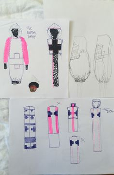 quick sketches and collecting ideas / developing designs #1