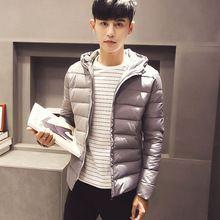 2016 New Fashion Men Hoody Winter Coats Male Hooded Plus Size 3XL  Jackets Teenager Slim Fit Windbreaker Down Parka Good Quality