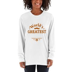 This long-sleeved shirt is made of the ultra-smooth American Apparel cotton, and it has comfy long sleeves to protect you from the elements. The sleeves are cuffed at the hand for a tapered look that adds a little flair. American Apparel, Long Sleeve Shirts, Sleeves, T Shirt, Heather Grey, Therapy, Yoga, Crown, Printed