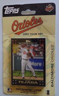 Topps 2007 Baltimore Orioles MLB Baseball Cards Team Set - 14 Cards NIP  #BaltimoreOrioles