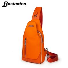 Bostanten 2015Fashion PU Leather Large Sling Single Shoulder Bag Back Pack Tactical One Strap Sport Waterproof Canvas Chest Pack