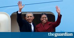 Now a former President of the United States, Barack Obama and Mrs. Obama board Air Force One the last time after serving the nation for 8 wonderful years. 1/20/17