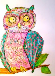 Art Eye Candy OWL Print by Rachelle Panagarry. $16.00, via Etsy.