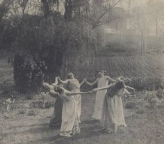 Circle of Women Dancing Moon Light Dance Meadow Pagan Witches Wiccan Magic Summer Solstice Dancers Vintage Victorian Photography Photo Print Pagan Witch, Wiccan, Witchcraft, Magick, Victorian Photography, Southern Gothic, Season Of The Witch, Witch Aesthetic, Dark Photography