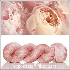 PEACEFUL PEONY YAK SILK LACE YARN by expression fiber arts