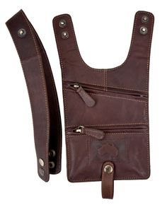 Wombat Genuine Leather Anti-Theft Underarm Holster Wallet Travel Shoulder Bag # 9009 [Brown]