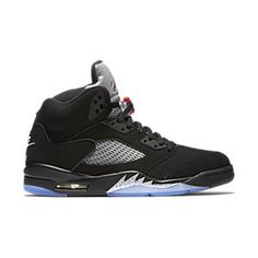 huge discount 9feab 663db Men s Nike Air Jordan 5 Retro OG Black Metallic Silver Size 16  eBay  Jordan