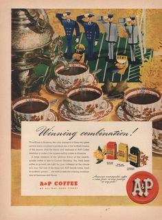 1945 VINTAGE A&P FOOD STORES WINNING COMBINATION PRINT AD 1363 #AP