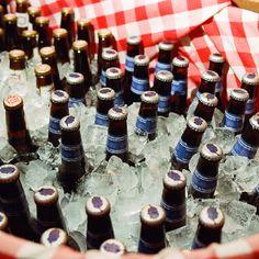 Rustic drink display