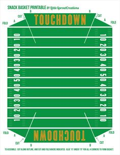 Printable NFL Football Field  Reading  Pinterest  Football