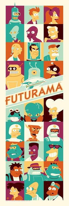 Futurama & Simpsons SDCC prints from ACME Archives