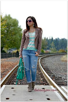 Stitch Fix Nov. 2015 Review - Love the fringe jacket. The top and bag are also #stitchfix @stitchfix