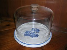 Pfaltzgraff  Yorktown Cheese plate and dome. $16.00, via Etsy.