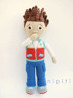 Paw Patrol Toy - Pattern PDF - Ryder - Amigurumi - Crochet boy doll (US Version)