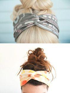 Haarband aus einem alten T-Shirt ohne nähen :-) http://maikonagao.blogspot.de/2013/05/diy-t-shirt-headband.html?m=1