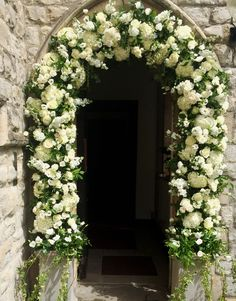Church arch with summer flowers White Wedding Flowers, White Flowers, Floral Arch, Floral Wreath, Summer Flowers, Marry Me, Classic White, Arches, Painting Inspiration