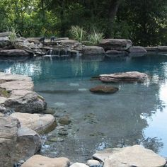 Natural Pool. I ABSOLUTELY LOVE THIS!!!! Someday I will have one :)))