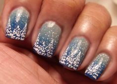 MeMa's Mani's: White Christmas Trees