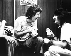 Paul and Ronnie Wood.