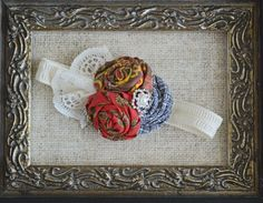 Fall Headband with Vintage Lace by EclecticEgg on Etsy