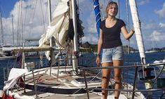 Laura Dekker, a 16-year-old Dutch sailor who has become the youngest person ever to circumnavigate the globe single-handed*
