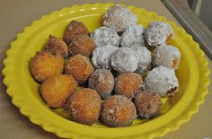 homemade donut holes, just made these in my cake pop maker and they are delicious!